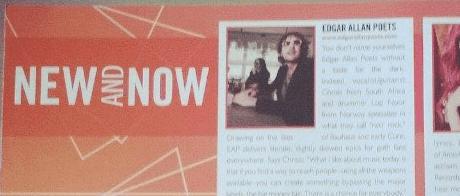 Edgar Allan Poets featured on SESAC magazine