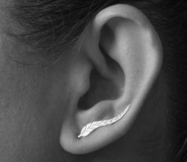 The Last Leaf Edgar Allan Poets Earrings