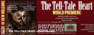 Edgar Allan Poe the tell tale heart movie premiere with the music of Edgar Allan Poets the noir rock band