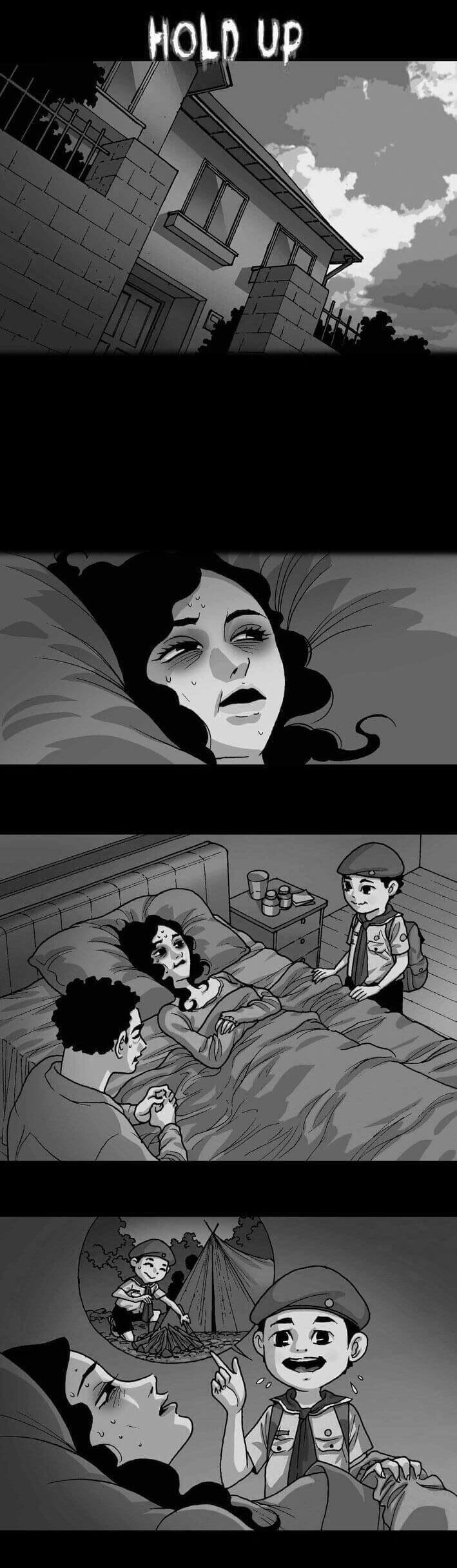 Artist Creates Horror Stories That Will Terrify You Without Saying A Single Word part1