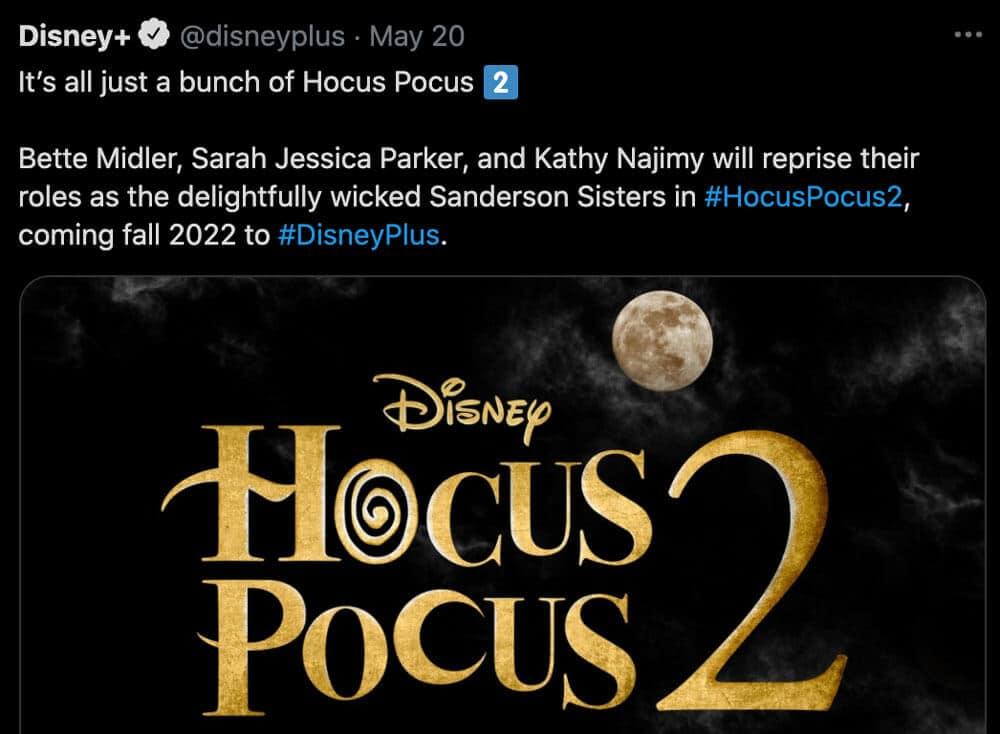 No More Games Hocus Pocus 2 Is Happening | Disney +