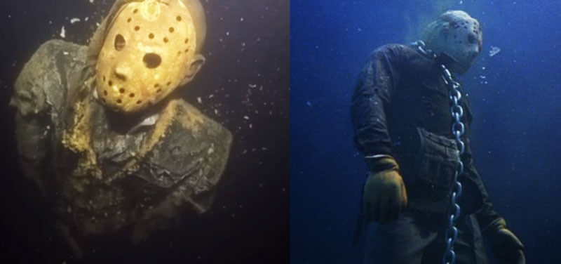 The Jason Voorhees Statue Installed By a Fan Underwater Terrifying