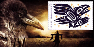The Raven That Stole the Sun Is Now A Stamp