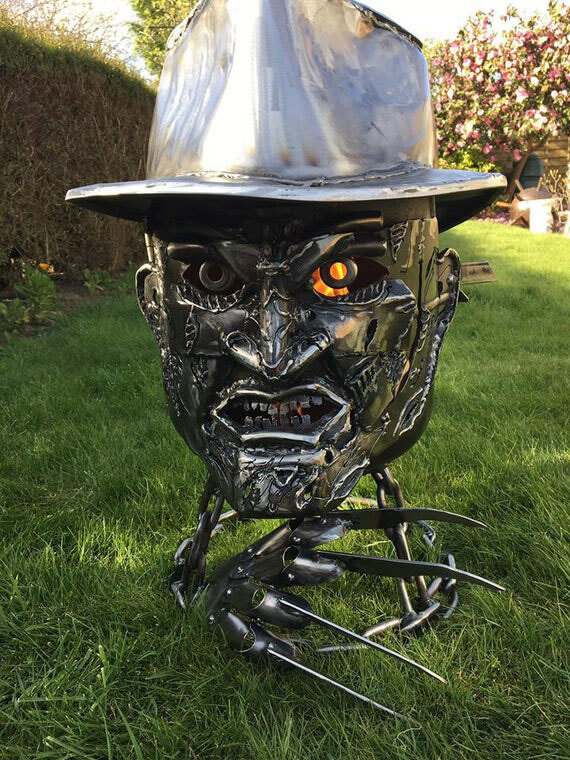 This Freddy Krueger Fire Pit Is Sinisterly Fascinating