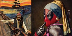 Artist Mixes Pop Culture Icons With Famous Classic Paintings