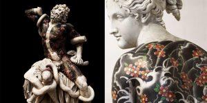 Fabio Viale Artist Tattoos Classical Sculptures